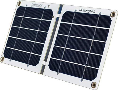 Suntactics S5 Ultralight Hiking Solar Charger, Quick Charge Phones, Power Banks and Many Other USB...
