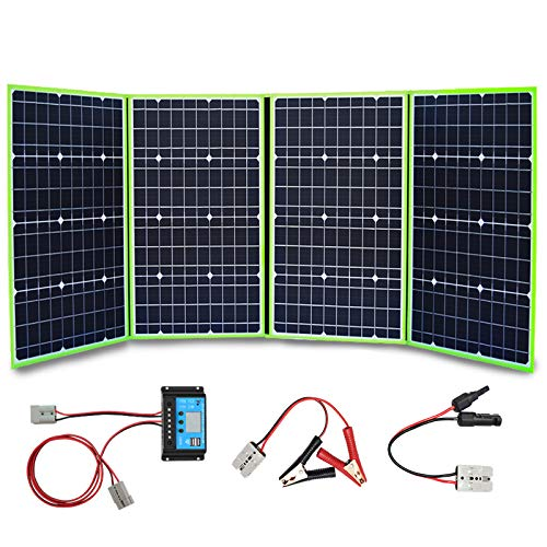 XINPUGUANG 200W 12V Portable Solar Charger Foldable Solar Panel Generator with Charge Controller for...