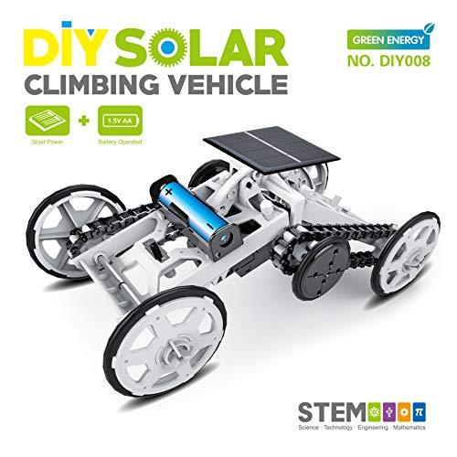 STEM Toy 4WD Car DIY Climbing Vehicle Motor Car Educational Solar Powered Car Engineering Car for...