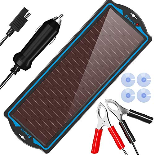 SUNAPEX 12V Solar trickle Charger,Battery Charger,Battery maintainer Portable Power Solar Panel...