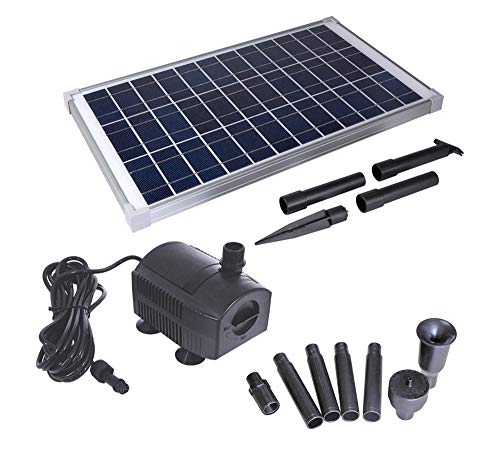 Solariver Solar Water Pump Kit - 360+GPH Submersible Pump with Adjustable Flow, 20 Watt Solar Panel...