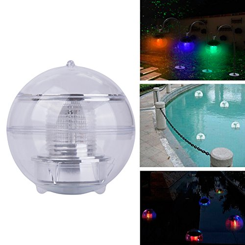 CyberDyer Solar Powered Waterproof Floating LED Color Changing Wedding Party Decor Lights