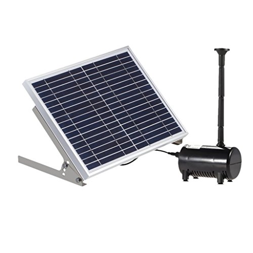 Lewisia 10W Solar Water Pump Kit with Mushroom and Blossom Spray Heads for DIY Pond Water Feature...