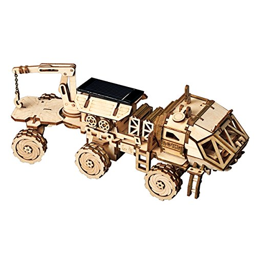 ROKR Assemble Solar Energy Powered Cars-Moveable 3D Wooden Puzzle Toys-Funny Teaching...