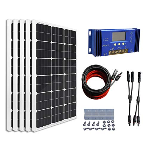 ECO-WORTHY 500 Watts Complete Solar Kit Off-Grid: 5pcs 100W Mono Solar Panel Module + 60A Charge...