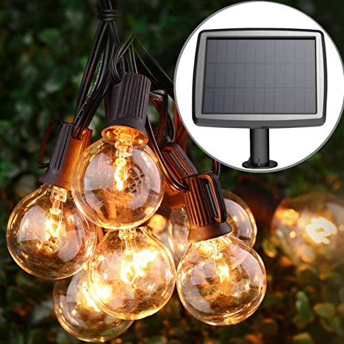 PERFECTDAY Solar String Lights, Shatterproof LED Solar String Light Outdoor G40 Umbrella Lights with...