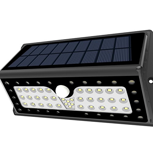 Solar Lights, Lampat Outdoor 62 LEDs, Super Bright Motion Sensor Lights with Wide Angle...
