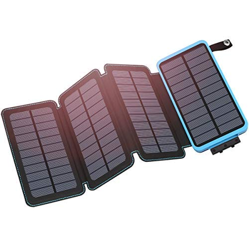 Hiluckey Solar Charger 25000mAh Portable Solar Power Bank Waterproof Battery Packs with Dual Ports...
