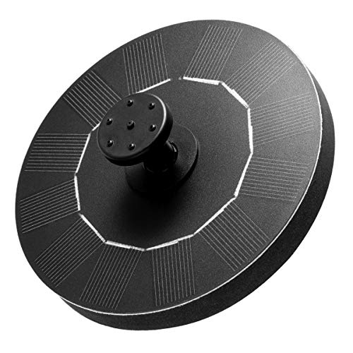 Solar Fountain, New Upgraded Mini Solar Powered Bird Bath Fountain Pump 1.4W Solar Panel Kit Water...