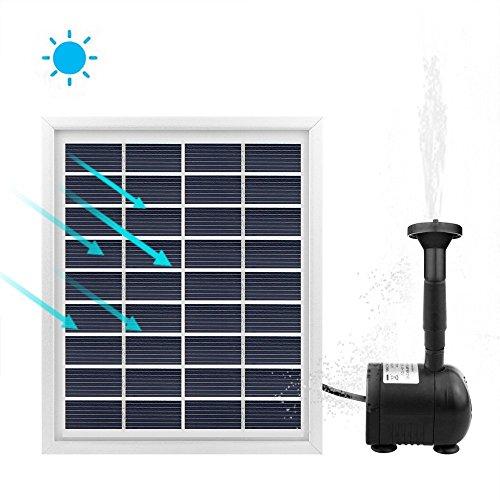 Sunsbell Solar Water Pump, Solar Fountain Pump Birdbath, 2W Solar Powered Water Pump Waterfall...