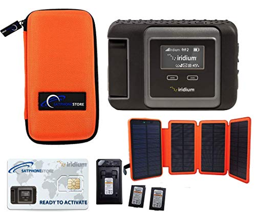 SatPhoneStore Iridium GO! Off The Grid Package with Tough Case, Solar Charger, Extra Battery and...