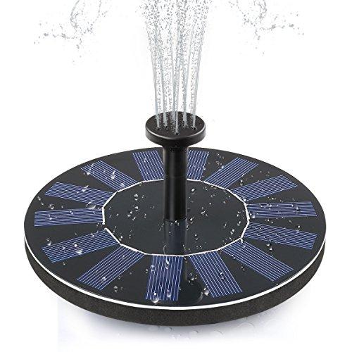 Solar Fountain, ADDTOP Solar Powered Bird Bath Fountain Pump Floating Solar Water Pump Kit Fountains...