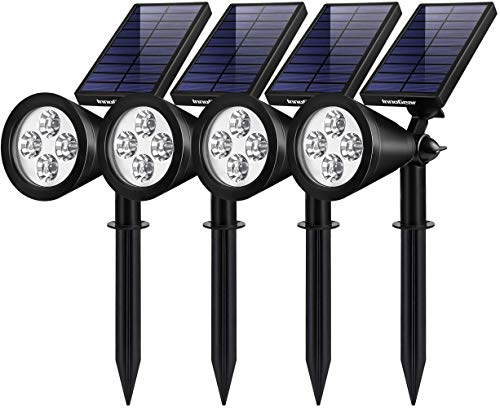 InnoGear Solar Lights Outdoor, Upgraded Waterproof Solar Powered Landscape Spotlights 2-in-1 Wall...