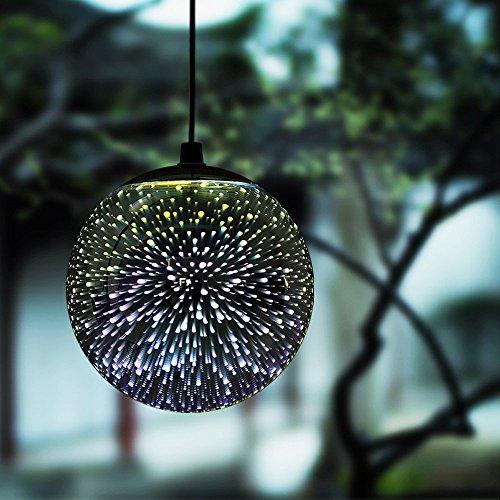 TAKEME Hanging Solar Lights Outdoor Garden, Decor Lights,Gazing Ball Pendant LED 3D Firework...