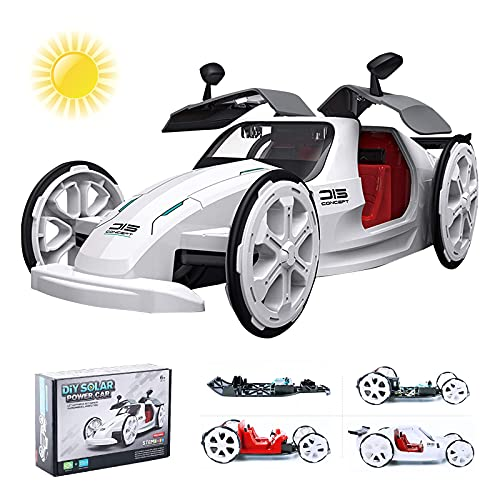 Starpony Firmament STEM Educational Solar Car Toy Powered by Solar and Battery, DIY Engineering...
