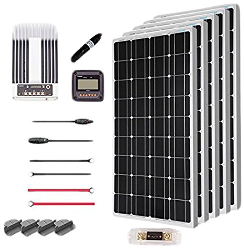 Renogy 500 Watt 12 Volt Solar Premium Kit w/ 5 Pcs 500W Solar Panel+40A MPPT Charge Controller+Solar...