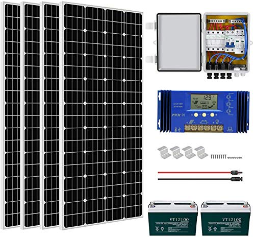 ECO-WORTHY 800 Watts Complete Solar Power System Kit Off Grid with battery: 4pcs 195W Mono Solar...
