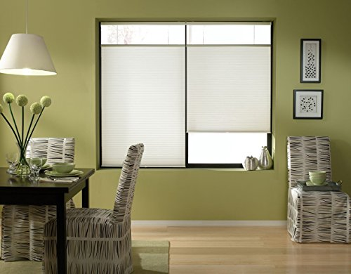 Windowsandgarden Cordless Top Down Bottom Up Cellular Honeycomb Shades, 22W x 36H, White, Sizes...