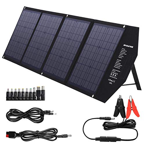 SUAOKI Foldable 80W Solar Panel Charger Compatible with Jackery/Goal Zero...