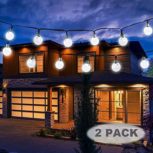 Vivii Solar String Light 20 ft 30 LED Crystal Ball Waterproof String Lights Solar Powered Fairy...