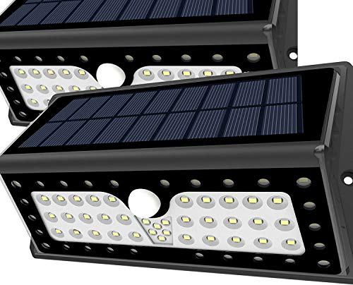 Solar Lights, Lampat Bright 62 LED Solar Powered Security Lights Waterproof Outdoor Motion Sensor...