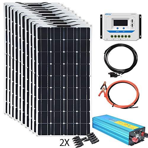 XINPUGUANG 100w Flexible Solar Panels 24V 1000W Solar System Kit Monocrystalline Cell Module 45A...