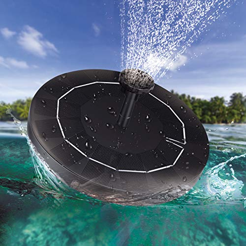 Solar Fountain Water Pump for Bird Bath,Upgrade 2.5W Solar Panel Kit Water Pump,Free Standing...