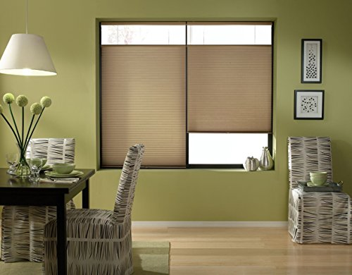 Windowsandgarden Cordless Top Down Bottom Up Cellular Honeycomb Shades, 24W x 66H, Antique Linen,...