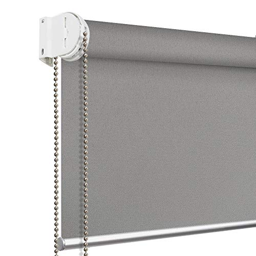 PASSENGER PIGEON Blackout Roller Shades, Dark Grey 20' W x 40' L, Thermal Insulated Waterproof...