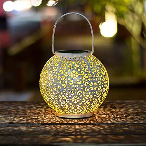 TAKEME Solar Lantern,Outdoor Garden Lights,Metal Waterproof LED Hanging Lights Decorative Lamp for...