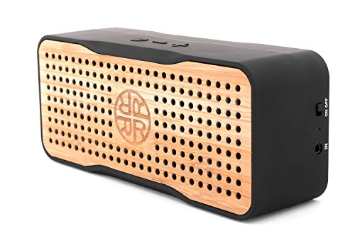 Solar Speaker, Portable Wireless Bluetooth Bamboo Speaker & Phone Charger by REVEAL - Eco-Friendly...