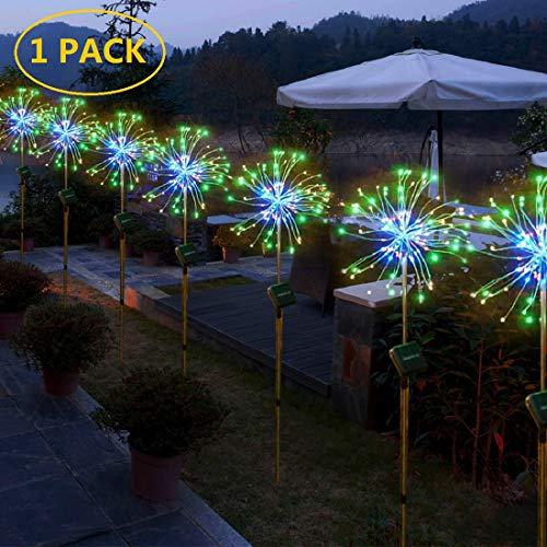Starburst String Lights Solar Powered 120 LED Bouquet Shape Lights,Fairy Twinkle Light 8 Modes...