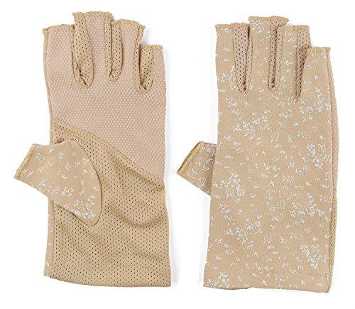 Womens Sun Screen Gloves UV Sun Gloves UPF Lightweight Gloves UV Driving Gloves Khaki