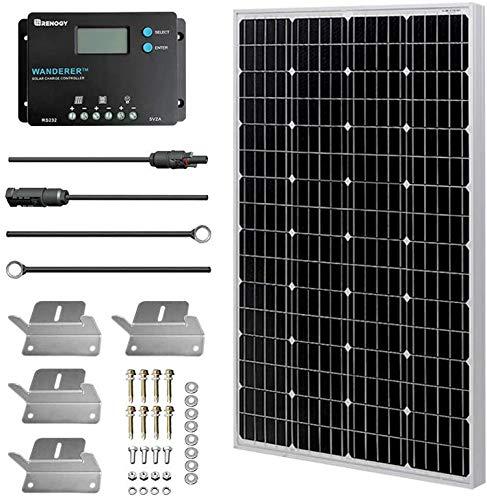 HQST 150 Watt 12 Volt Polycrystalline Solar Panel with Connectors High Efficiency Module PV Power...
