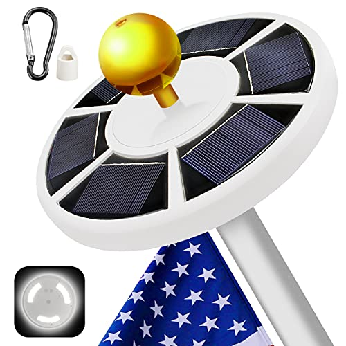 BeideLt Solar Flag Pole Light,42 LED Super-Bright Solar Powered Outdoor Flagpole Light, Waterproof...