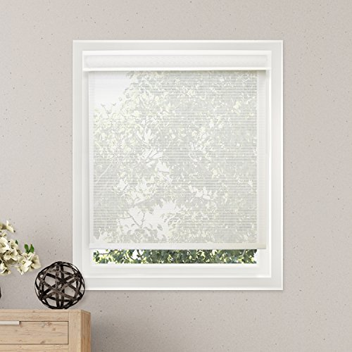 Chicology Free-Stop Cordless Roller Shades, No Tug UV Ray Blocking Window Blind, Cloud White (Solar)...