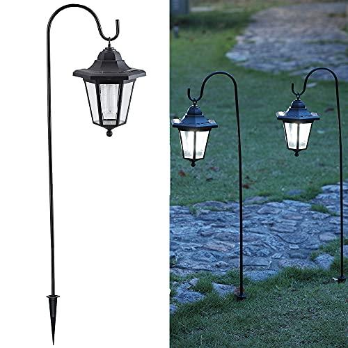 MAGGIFT Upgrade Hanging Solar Lights Garden Decorations, 37.8 Inch Dual Use Shepherd Hook Lights...