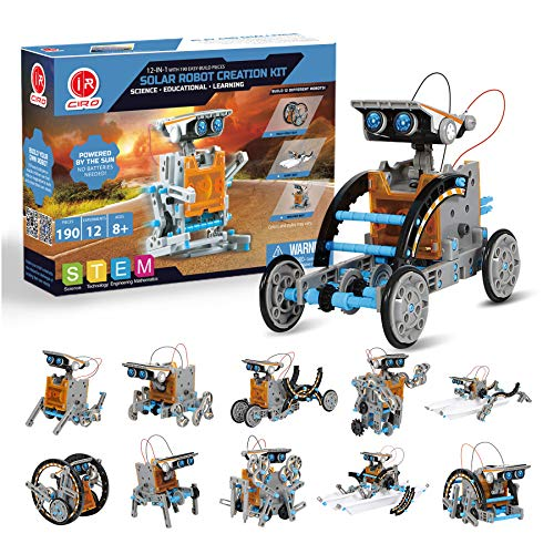 CIRO 12-in-1 Solar Robot Toys, STEM Education Activities Kits for Kids 8-12, 190 Pieces Building...