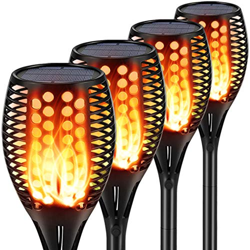 Aityvert Solar Lights Upgraded 42.9 Inch, Solar Flickering Flame Torch Lights Dancing Flames...