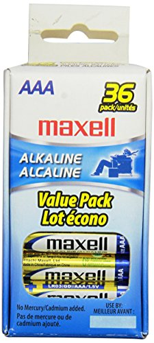 Maxell 723815 AAA Performance Long Lasting Alkaline Batteries - 36 Pack, Computer