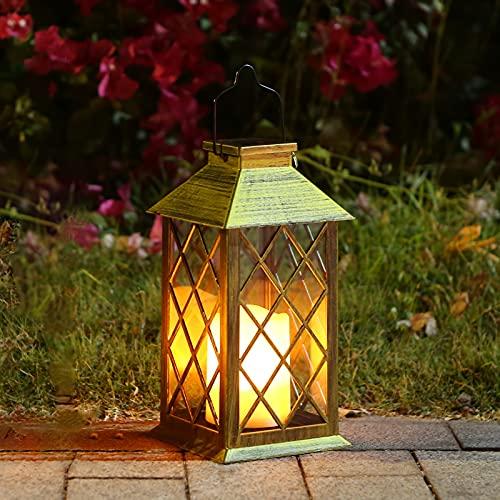 Tomshine LED Solar Lantern Waterproof Outdoor Lantern Solar Lights Outdoor Decorative Candle Light...