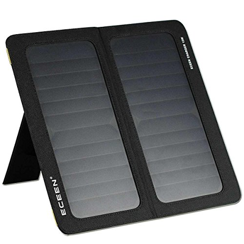 ECEEN 13W 2-Port USB Universal PowerPort Solar Phone Charger for iPhone 7/7 Plus/6S/6/6 Plus,iPad...