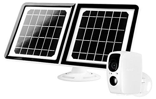 Lynx Solar Weatherproof Outdoor Wifi Surveillance Camera With Solar Panel, Facial Recognition, Night...