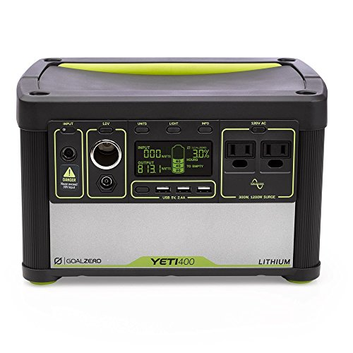 Goal Zero Yeti 400 Lithium Portable Power Station, 428Wh Rechargeable Generator and Backup Power...