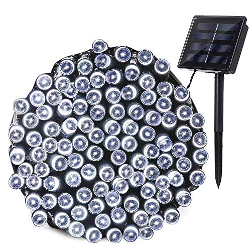Joomer Solar Christmas Lights 72ft 200 LED 8 Modes Solar String Lights Waterproof Solar Fairy Lights...