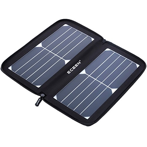 ECEEN Solar Charger Panel with 10W High Efficiency Sunpower Cells & Smart USB Output for Smart...