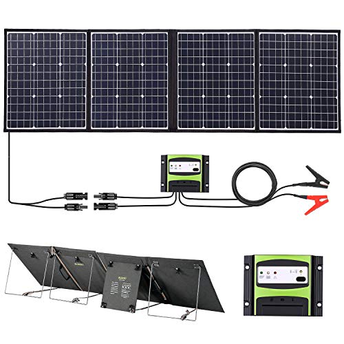 SUAOKI Solar Charger 160W Solar Panel Kit Compatible S270/G500/PS5B/S200 Power Station and ROCKPALS...