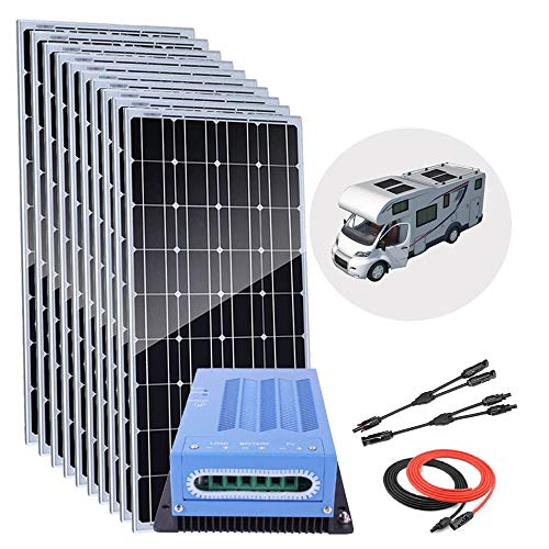Giosolar 1000 Watts 12 Volts Monocrystalline Solar Panel Home Kit Off-Grid System with 40A MPPT LED...