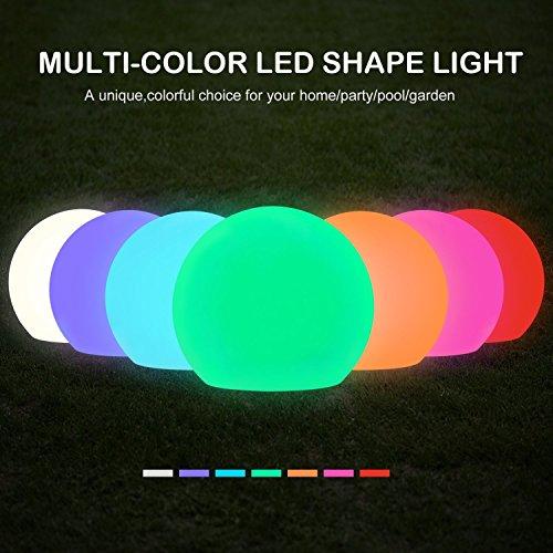 Solar LED Ball Light - Sunwind 8inch Color Changing Solar Globe Light Pool Floating Waterproof LED...