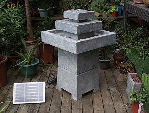 TIAAN Solar Powered Outdoor Three Tier Garden Water Fountain